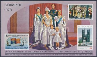 STAMPEX - Queen Elizabeth II. memorial sheet, STAMPEX II. Erzsébet királynő emlékív