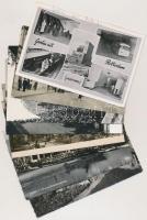 86 db MODERN fekete-fehér külföldi városképes lap / 86 modern black and white European town-view postcards