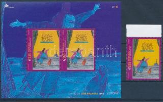 Europa CEPT, poster art margin stamp  + block, Europa CEPT, Plakátművészet ívszéli bélyeg + blokk
