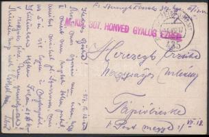 1917 Tábori posta képeslap M.KIR. 307. HONVÉD GYALOG EZRED + FP 435 a