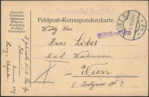 1915 Tábori posta levelezőlap K.u.k. Reservespital Linz(Urfahr)