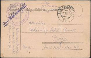 1915 Tábori posta levelezőlap K.u.k. INFANTERIEREGIMENT Nr.62. 2. FELDKOMPAGNIE + FP 79