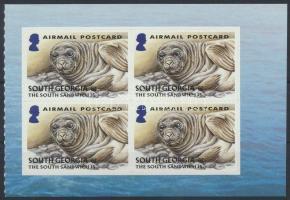 Seal self-adhesive stamp-booklet sheet, Fóka öntapadós bélyegfüzetlap