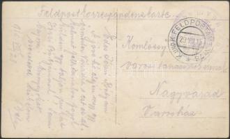 1915 Tábori posta képeslap K.u.k. IV/37 INFANTBAON M.G.A. III + FP 78