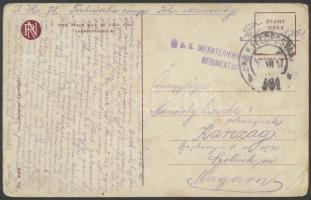 1917 Tábori posta képeslap K.u.k. INFANTERIEREGIMENT REGIMENTSSTAR + FP 361