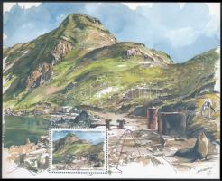 Látkép bélyegfüzetlap, View stamp-booklet sheet