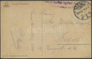 1917 Tábori posta képeslap Katonai ápolási ügyben + SZEGED