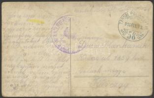 1916 Tábori posta képeslap K.u.k. INFANTERIEREGIMENT + TP 58