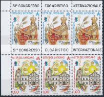 51. Eucharistic Congress set in corner stripes of 3, 51. Eucharisztikus Kongresszus sor ívsarki vízszintes 3-as csíkban