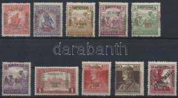 Szeged 1919 10 klf bélyeg Bodor vizsgálójellel (12.950)
