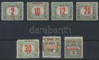 Szeged 1919 7 klf Portó bélyeg Bodor vizsgálójellel (17.000)