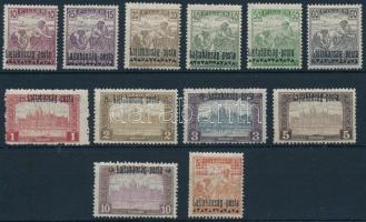 Nyugat-Magyarország III. 1921 12 klf érték Bodor vizsgálójellel (9.100) (60f falcos / hinged)