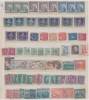 Csehszlovákia 1919-1967 88 db bélyeg, közte teljes sor, főleg a II. világháború előtti értékek berakólapon