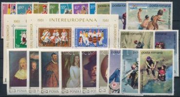 1969-1989 21 stamps + 2 blocks, 1969-1989 21 klf bélyeg + 2 klf blokk