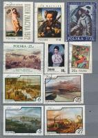 Lengyelország 1900-1987 250 db bélyeg, javarészt pecsételt + 1 db levelezőlap alkalmi bélyegzéssel, 8 lapos közepes berakóban