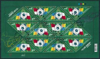 012 European Football Championship in Poland and Ukraine mini sheet, 2012 labdarúgó Európa-bajnokság Lengyelországban és Ukrajnában kisív