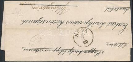 1869 Ex offo BUDA - BÚCS - BESZTERCZEBÁNYA - ÚJBÁNYA