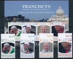 Pope Francis margin set + block, Ferenc pápa ívszéli sor + blokk