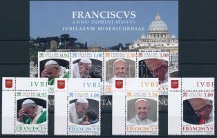 Pope Francis corner set + block, Ferenc pápa ívsarki sor + blokk