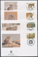 1993 WWF: Szibériai tigris sor 4 db FDC-n Mi 343-346