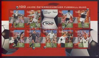 2004 100 éves az osztrák futball kisív Mi 2460-2469