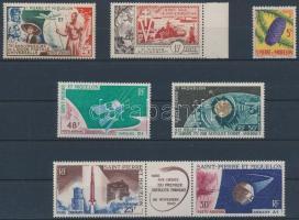 St. Pierre és Miquelon 1949-1966 7 db klf bélyeg, közte ívközéprészes pár