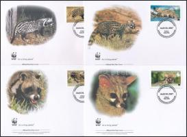 WWF Wildcats animals set 4 FDC, WWF: Vadmacska félék sor 4 FDC-n