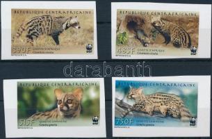 WWF Wildcats animals imperforate set, WWF: Vadmacska félék vágott sor