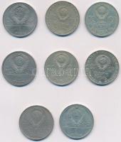 Szovjetunió 1965-1979. 1R (8x) T:2,2- Soviet Union 1965-1979. 1 Ruble (8x) C:XF,VF