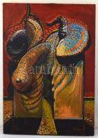 Jámbor jelzéssel: Útvesztő. Olaj, vászon, 100×70 cm