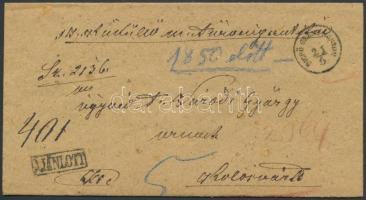 ~1860 Ajánlott ex offo ,,DICSŐ SZENT-MÁRTON - Kolosvár