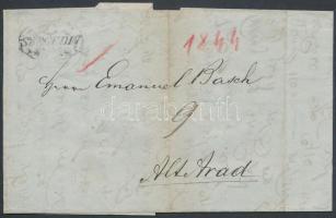 1844 Portós levél ,,SZEGEDIN - Alt-Arad