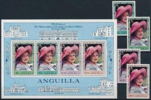 1980 II. Erzsébet királynő sor Mi 392-395 + blokk 33
