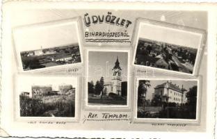 Bihardiószeg, Diosig; Állami nagypince, református templom, volt román erőd / wine cellar, church, fortress (EK)