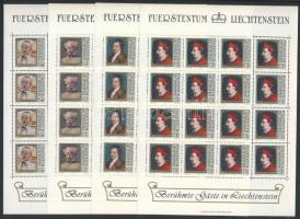 1981 Híres emberek festményeken kisív sor Mi 784-787 (40Rp ív 1 bélyeget is érintő saroktörés)
