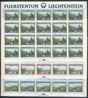 1982 Tájkép festmények; Moritz Menzinger kisív sor Mi 806-808