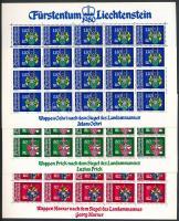 1980 Címer kisív sor Mi 743-746