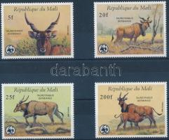 1986 WWF: Antilop sor Mi 1078-1081