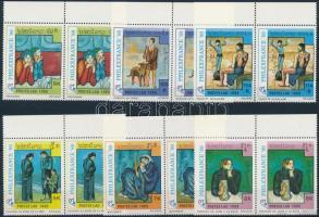 Picasso festmények Philexfrance bélyegkiállítás sor párokban, Picasso paintings Philexfrance stamp exhibition set in pairs