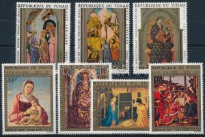 1970-1972 2 diff Paintings set, 1970-1972 2 klf Festmény sor