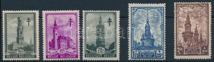 Fight against Tuberculosis: Towers 5 stamps, Tuberkulózis elleni küzdelem: Tornyok 5 érték