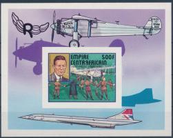 Aviation History imperforated block, A légi közlekedés története vágott blokk
