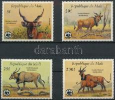 1986 WWF: Jávorantilop sor Mi 1078-1081