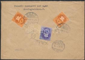 1946 (12. díjszabás) Távolsági levél Lovasfutár 2x4ezerP + 80ezerP korábbi díjszabás szerinti bérmentesítéssel az új díjszabás első napján