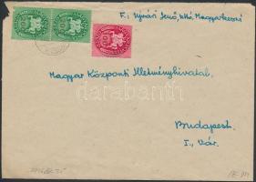 1946 (13. díjszabás) Távolsági levél Lovasfutár 100ezerP + 2x200ezerP bérmentesítéssel
