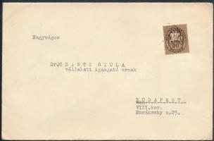 1946 (9. díjszabás) Helyi levél Lovasfutár 20ezerP bérmentesítéssel