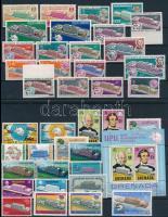 UPU 39 stamps + 1 block, UPU motívum tétel 39 db bélyeg és 1 blokk 2 stecklapon