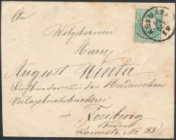 1894 3kr levélen KÉSMÁRK - FREIBURG
