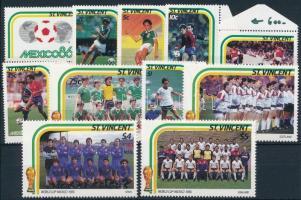 Football World Cup set without 5c (Mi 944 missing), Labdarúgó VB sor 5c nélkül (Mi 944 hiányzik)