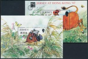 1996-1997 Kínai újév 2 db blokk - ökör és patkány éve Mi 12,14 I